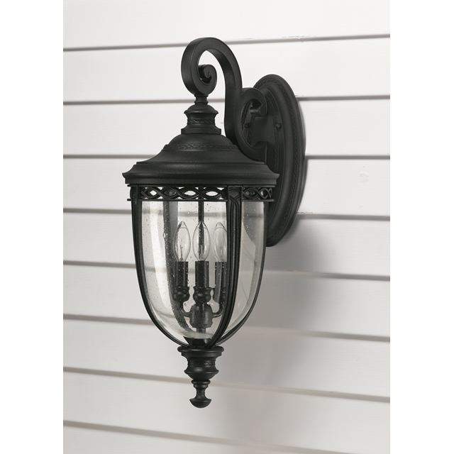 Classic French Outdoor Wall Lantern Black