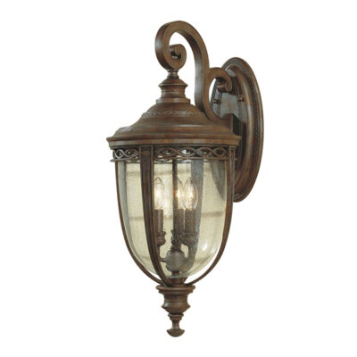 Classic Wrought Iron Outdoor Wall Lantern
