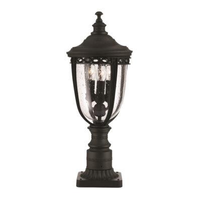 Traditional Outdoor Pedestal Light Black