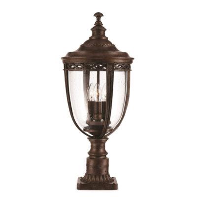 Classic Outdoor Pedestal Light Bronze
