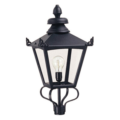 French Wrought Iron Outdoor Pedestal Light
