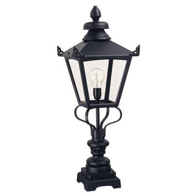 Classic Wrought Iron Outdoor Pedestal Lantern