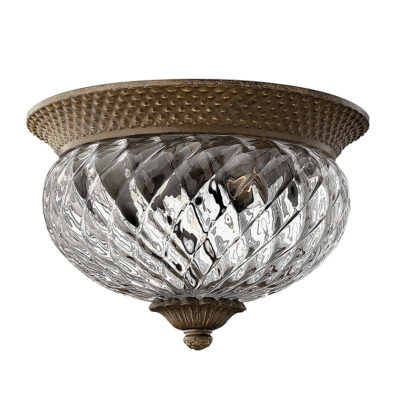 Classic French Flush Ceiling Light Bronze