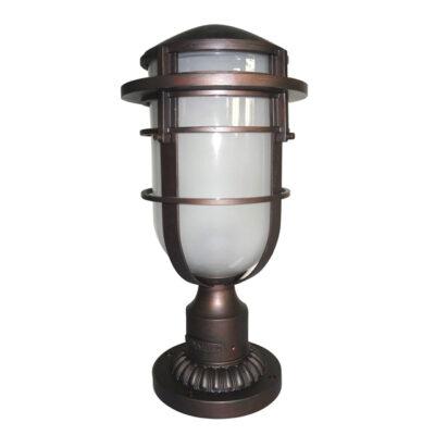 Classic French Outdoor Pedestal Light Bronze