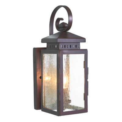 French Wrought Iron Outdoor Wall Light