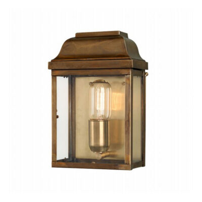 Covent Garden Wall Lantern in Aged Brass