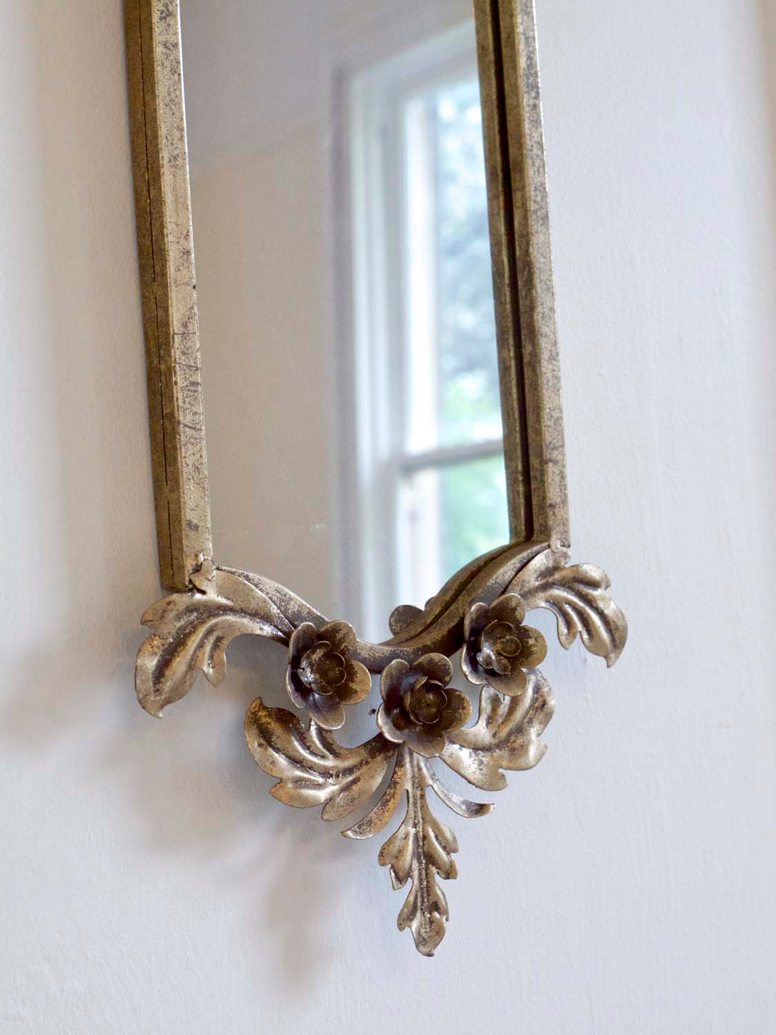 10 French mirror with floral ornements