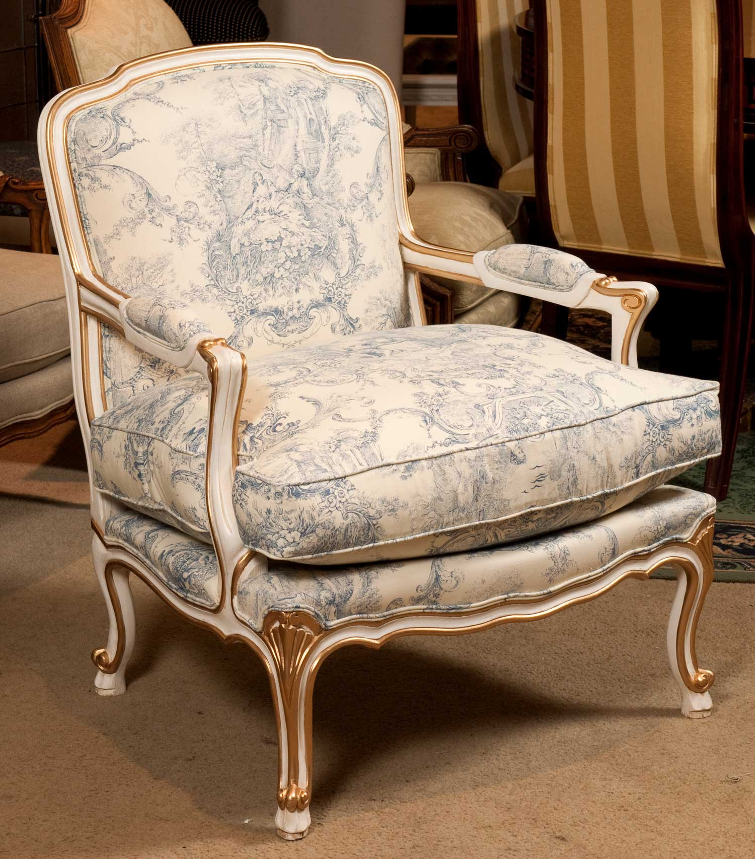 4- French toile fabric