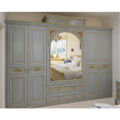 French provincial wardrobe in French blue