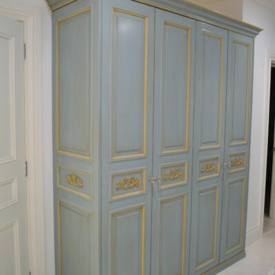 French provincial wardrobe in blue