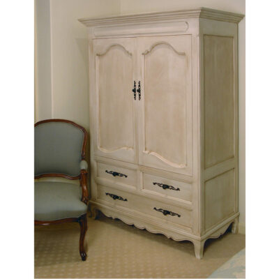 French country wardrobe with an antique finish