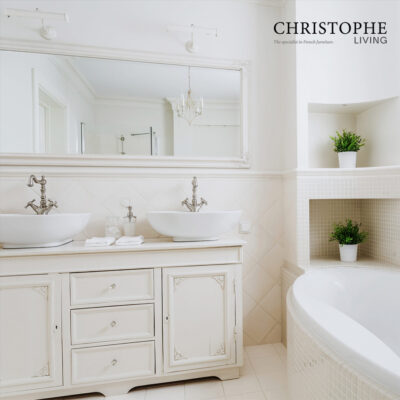 French Provincial & Hamptons custom bathroom vanity