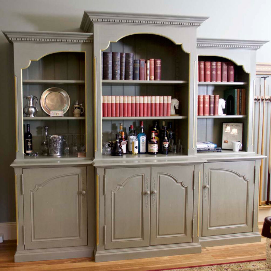 French Buffet dark taupe finish