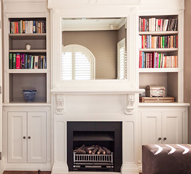 Custom made furniture sydney australia hamptons cabinets and book case, tv unit