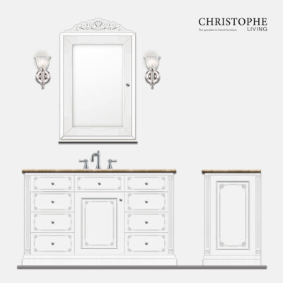 hamptons french louis 15 style bathroom vanity design