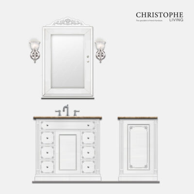 • hamptons louis 15 style bathroom vanity custom design Sydney Australia