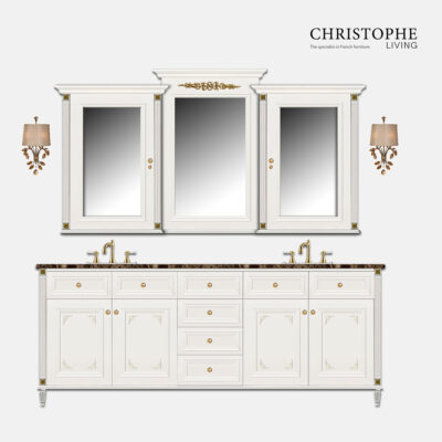 french hamptons bathroom cabinet and vanity, designed in sydney, customisable
