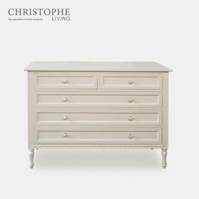 WHITE FRENCH DRAWERS BEDROOM